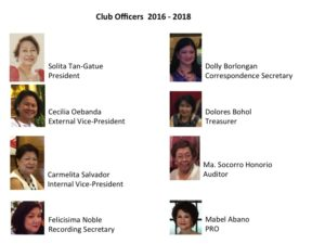 Club Officers 2016 2018